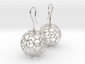 Fertilized Polyhedron Egg Earring in Platinum