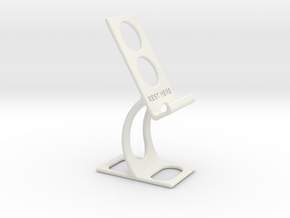 Phone holder & charge station in White Natural Versatile Plastic