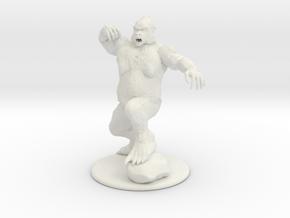 Yeti Miniature in White Natural Versatile Plastic: 1:60.96
