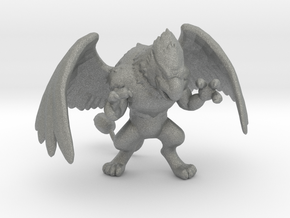 Griffon 57mm miniature model fantasy games dnd rpg in Gray PA12
