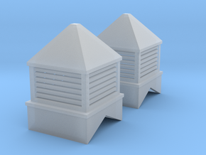 1/64th Cupolas for buildings, barns, sheds in Smooth Fine Detail Plastic