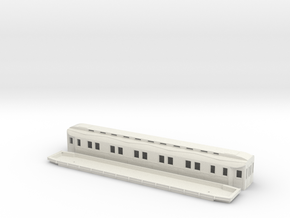 Ao2 - Swedish passenger wagon in White Natural Versatile Plastic