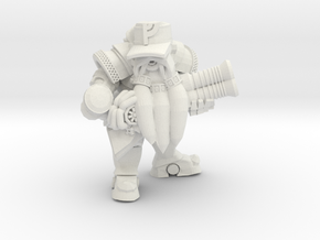 Space Dwarf Grunt in White Natural Versatile Plastic
