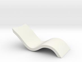 Miniature Sunbed in White Natural Versatile Plastic