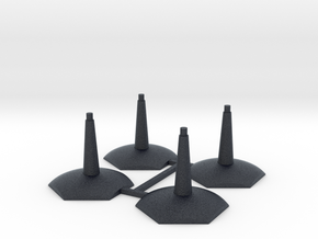 4 pack Flying-Space hex base stands in Black PA12