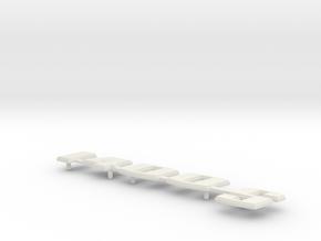 "Rear lid nameplate ""1400S"" fits VeeDub Bug - raw in White Natural Versatile Plastic"