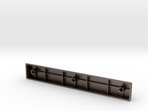 Blank Spacebar Keycap (6.25x) in Polished Bronzed Silver Steel