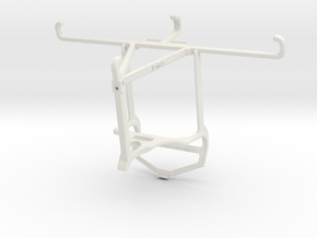 Controller mount for PS4 & Oppo A93 5G - Top in White Natural Versatile Plastic