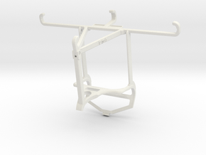 Controller mount for PS4 & Samsung Galaxy S21 5G - in White Natural Versatile Plastic