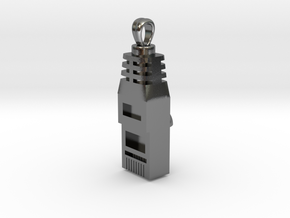 RJ45 [Pendant] in Polished Silver