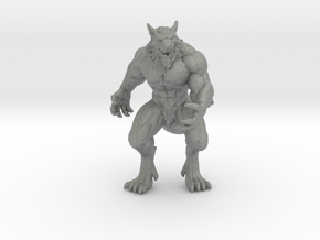 Alpha Werewolf miniature model fantasy games dnd in Gray PA12