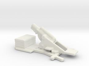 bl 9.2 inch  MK 1  siege howitzer 1/144 in White Natural Versatile Plastic