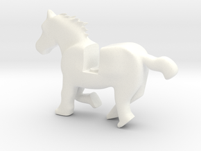Horse running in White Processed Versatile Plastic