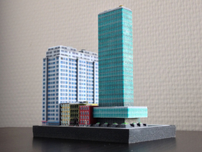 New York Set 1 Office Building 3 x 2 in Full Color Sandstone
