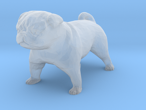 HO Scale Pug in Smooth Fine Detail Plastic
