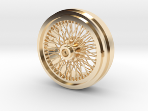1/8 Wire Wheel Rear, with 72 spokes in 14K Yellow Gold