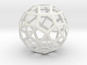 lawal 92 mm v2 skeletal rhombicosidodecahedron in White Natural Versatile Plastic