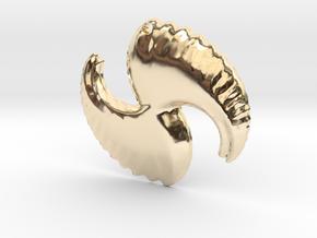 3D Fractal Pendant in 14K Yellow Gold