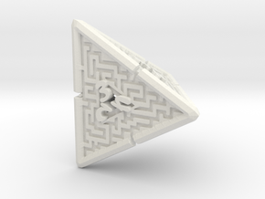 4 Sided Maze Die V2 in White Natural Versatile Plastic