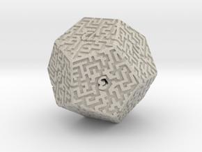 12 Sided Maze Die in Natural Sandstone