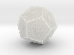 12 Sided Maze Die V2 in Smooth Fine Detail Plastic
