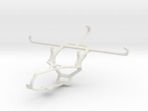 Controller mount for Steam & Samsung Galaxy Quantu in White Natural Versatile Plastic