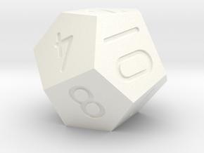 Pyritohedron d12 in White Processed Versatile Plastic