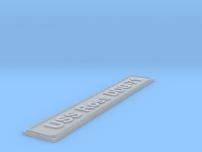 Nameplate USS Ross DDG-71 in Smoothest Fine Detail Plastic
