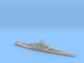 USN BB58 Indiana [late-war;1944] in Smooth Fine Detail Plastic: 1:1200