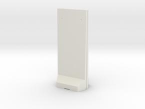 Concrete T-Wall 1/24 in White Natural Versatile Plastic