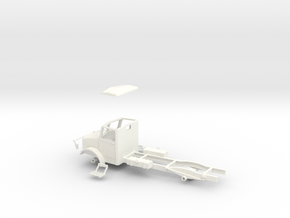 1:43 Bedford OY cab & chassis (twin fuel tanks)  in White Strong & Flexible Polished