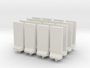 Concrete T-Wall (x16) 1/220 in White Natural Versatile Plastic