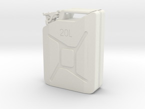 Jerry can, complete, scale 1:12 in White Natural Versatile Plastic