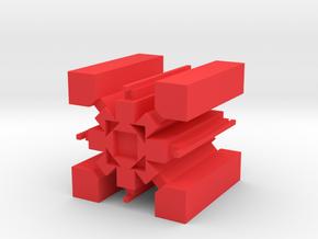Geometry Dash 4 Demon Levels Icon in Red Processed Versatile Plastic