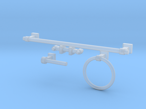 1:6 Luxe Bath Hardware  in Smooth Fine Detail Plastic