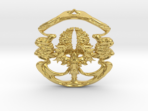 Phoenix of The Tree (Small) in Polished Brass