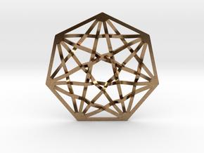 "7D Hypercube Pendant 1.5"" in Natural Brass"