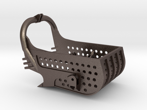 dragline bucket 8cuyd, with holes - scale 1/50 in Polished Bronzed-Silver Steel