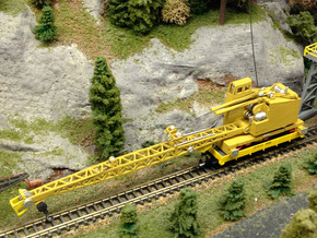 DE Ohio Locomotive Crane Z Scale in Frosted Ultra Detail