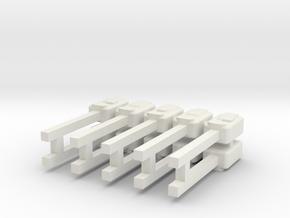 Hand Sanitzer Dispensers x 10 in White Natural Versatile Plastic