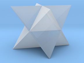 Compound of Two Tetrahedra - 10 mm in Smooth Fine Detail Plastic