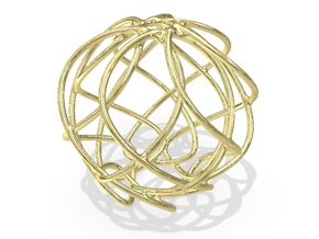 Christmas Ornament 2015_011 in 18K Yellow Gold