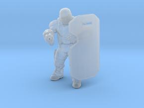 DE Riot Soldier miniature model games rpg dnd gun in Smooth Fine Detail Plastic