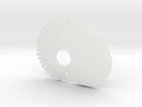 3D Fractal Tadpole Pendant in Smooth Fine Detail Plastic