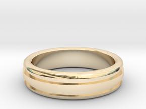 Man's Wedding Band M-004 in 14K Yellow Gold