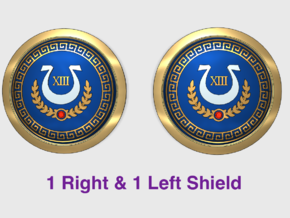 Ultra XIII - Round Power Shields (L&R) in Smooth Fine Detail Plastic: Small