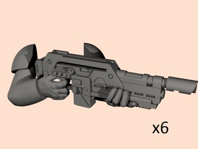 28mm pulse rifle M41A hands in Smoothest Fine Detail Plastic