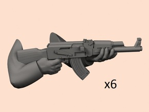 28mm AK47 hands in Smoothest Fine Detail Plastic