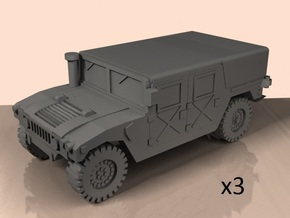 1/100 HMMWV M998 tented (low detailed) in White Processed Versatile Plastic