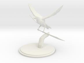 Raven  in White Natural Versatile Plastic
